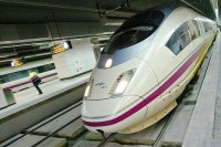 Spain's system of 218-mile-an-hour bullet trains, the AVE -- meaning 'bird' in Spanish