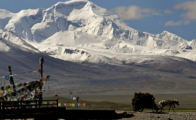 The Tibetan Plateau is the source of most of Asia's largest rivers, but it suffers from low annual rainfall.
