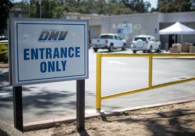 The Newhall office of the California Department of Motor Vehicles
