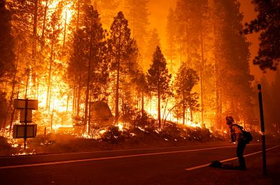 The fire is just one of many currently raging throughout the state of California