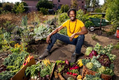 When Jamiah Hargins moved to the West Adams neighborhood of Los Angeles in 2015, he planted a backyard garden so he and his family (wife Ginnia and daughter Triana) could enjoy fruits and vegetables