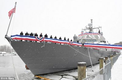 The US Navy's newest littoral combat ship, the USS Little Rock