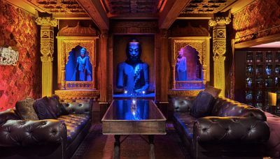 statues located inside Mandalay Bay's Foundation Room