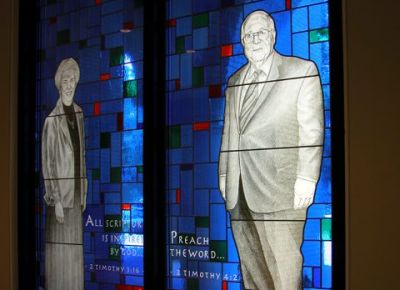 The windows, more than 60 in all, were to honor titans of the conservative resurgence within the Southern Baptist Convention
