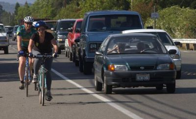 An increasing number of Californians are using bicycles as a mode of transportation