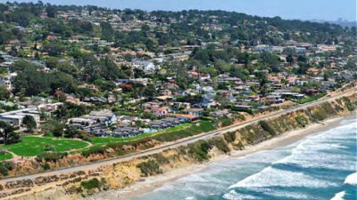 The city of Del Mar released this photo in outlining the fencing plan for the Del Mar bluffs