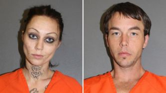 Amber Campbell, left, and John Arwood
