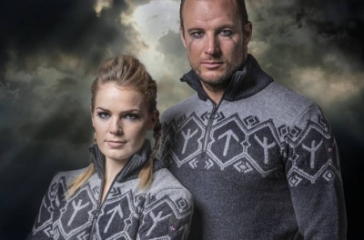 The knit sweaters feature a symbol known as the Tyr rune, which stems from Nordic mythology. However, the symbol was also the official emblem for Adolf Hitler's leadership school.