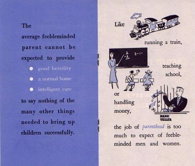 A pamphlet extolling the benefit of selective sterilization published by the Human Betterment League of North Carolina, 1950