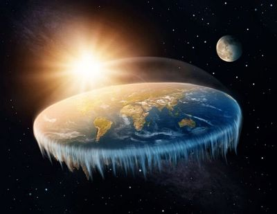 Most believers in a flat Earth think the planet is a flat disk surrounded by an ice wall.