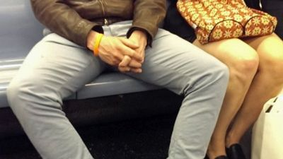 "photos posted on a Tumblr page aimed at highlighting the problem of ""man-spreading."""