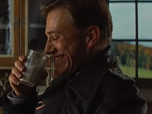 Actor Christoph Waltz as Nazi Hans Landa in Inglourious Basterds