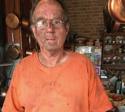 Potter Steve Harrison couldn't escape the fire in time. His kiln saved his life.
