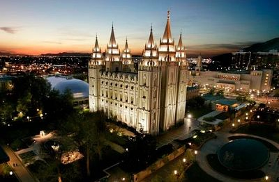 Mormon Temple, the centerpiece of Temple Square, in Salt Lake City