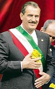 Vicente Fox is in the green as he rakes in the ameros ofter being president