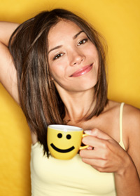 have coffee with an attractive woman